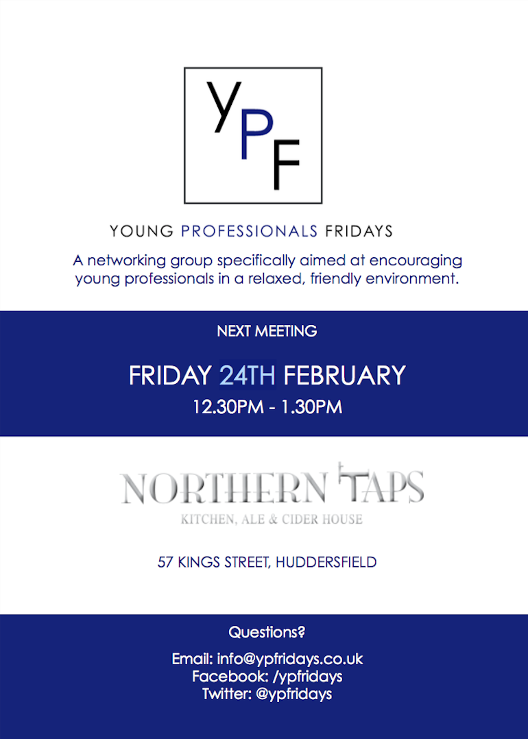 YP Fridays, Meeting on 24th February 12:30pm-1:30pm